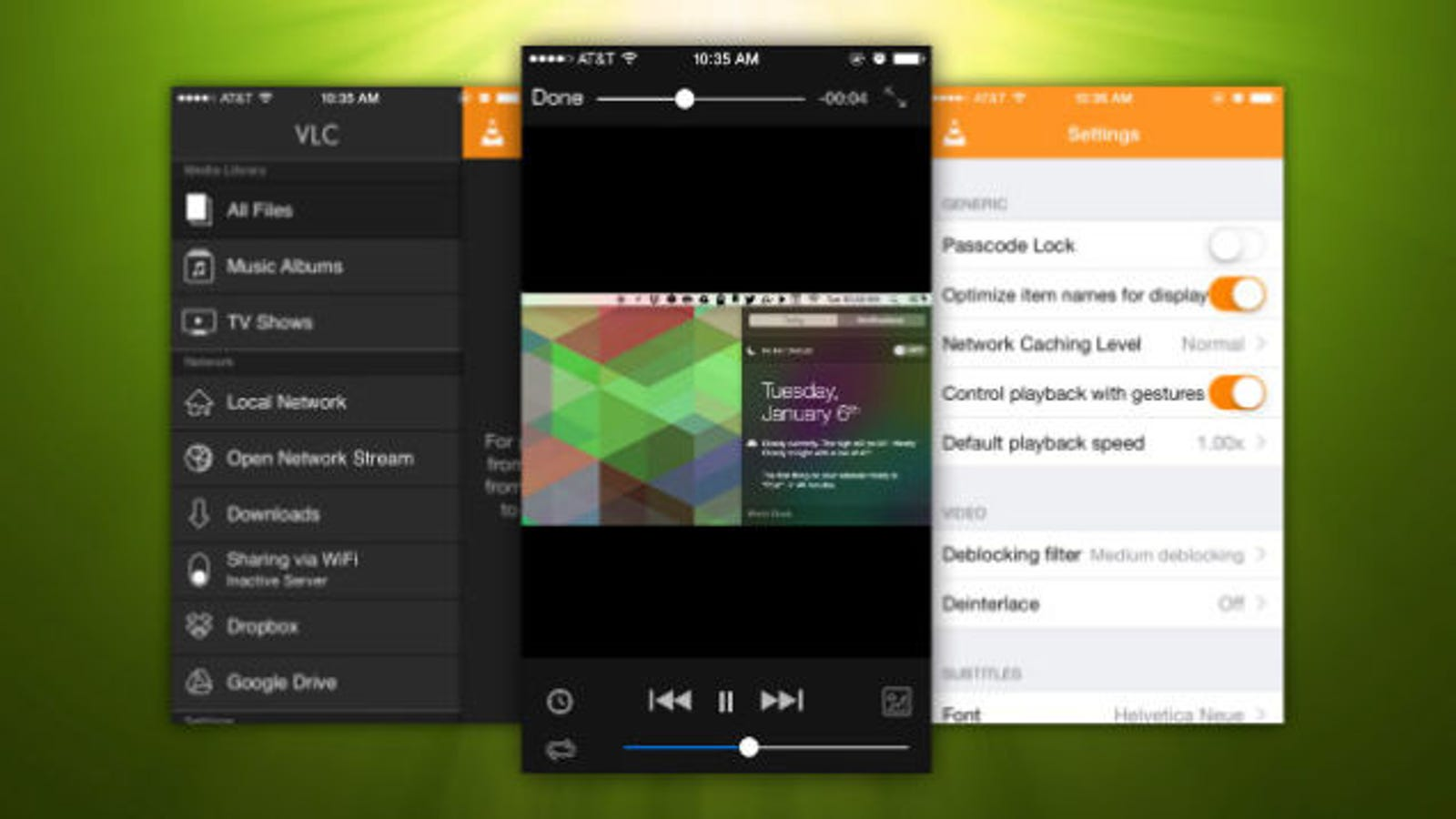 vlc gets extensions resume playback and comes back to ios