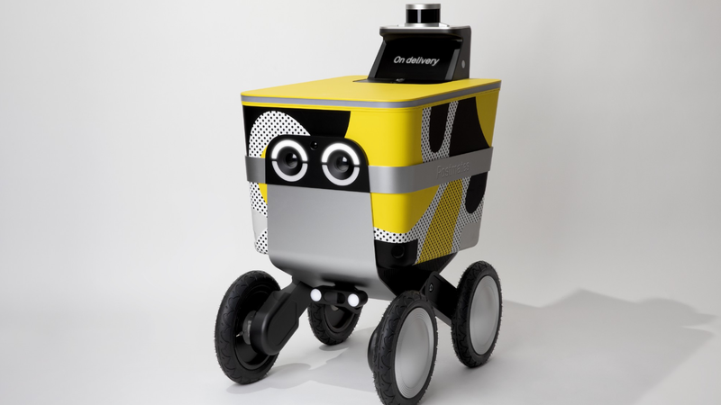 Illustration for article titled Postmates Builds Minion-Esque Delivery Bot That Maybe You Won't Try to Kill on Sight