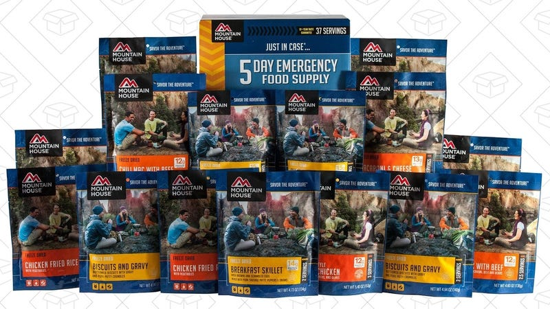 Mountain House Emergency Food Gold Box