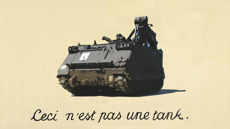 Not a tank. Photo credit: Kecko/jason Torchinsky (Illustration)/René Magritte (The Treachery of Images)