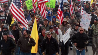 On Jan. 2, 2016, several hundred residents in Burns, Ore., gathered to protest the incarceration of two ranchers. Later that evening, some protesters took over a federal wildlife refuge.CBS News Screenshot