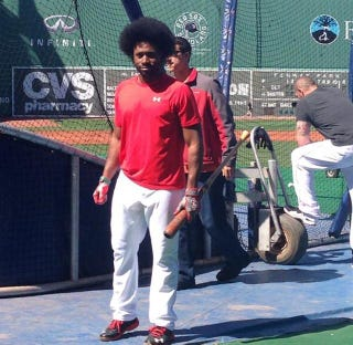 Illustration for article titled Jackie Bradley, Jr. Now Has A Glorious Afro