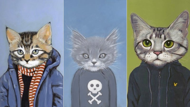 Illustration for article titled Hep Cats in Clothes Are Adorable, Slightly Surly