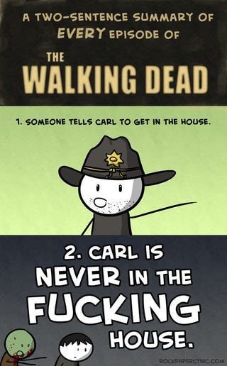 Illustration for article titled A Perfect 2-Sentence Summary of Every Episode of Walking Dead Season 2