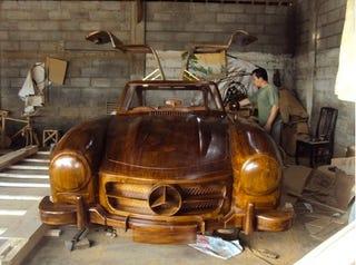 Illustration for article titled Wood Mercedes-Benz