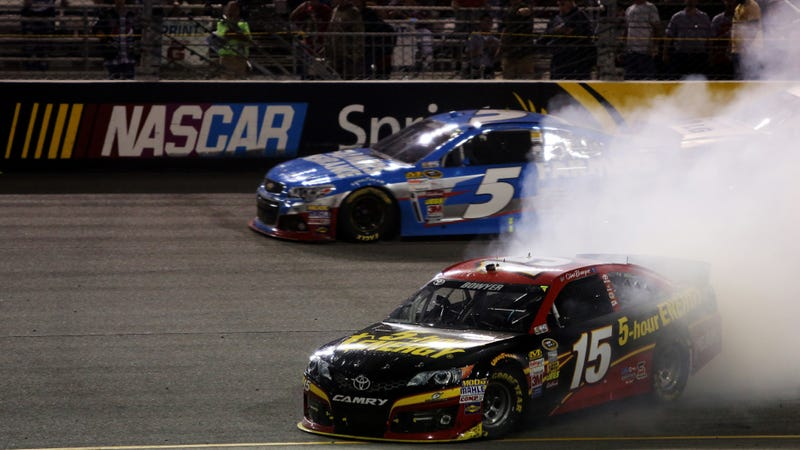 Illustration for article titled NASCAR Removes Martin Truex From Championship Chase After Rigged Race