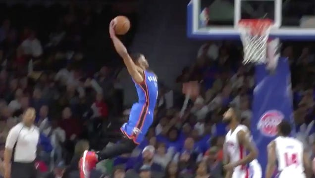 Marcus Morris Wanted No Part Of This Russell Westbrook Dunk