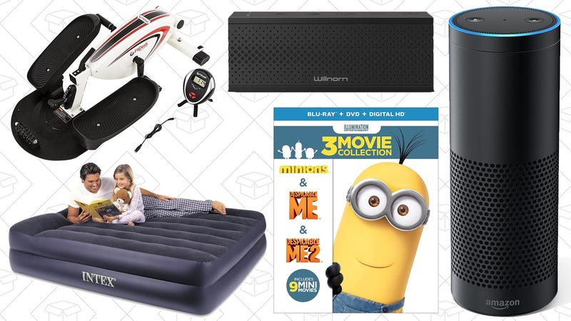 Illustration for article titled Today's Best Deals: Amazon Echo, Multi-Room Speaker, Minions Sale, and More