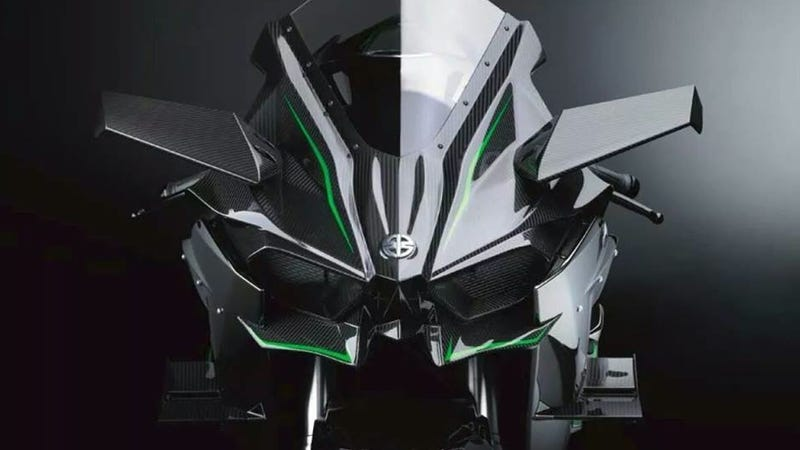 Illustration for article titled ​Here's The First Shot Of Kawasaki's Supercharged Ninja H2, With Wings