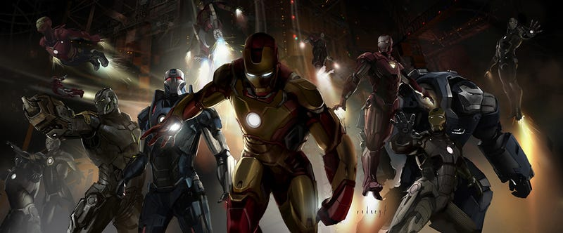 Illustration for article titled The Most Thrilling Iron Man 3 Art Yet: The Iron Legion!