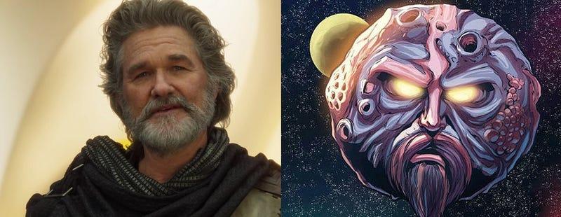Illustration for article titled El director de Guardians of the Galaxy 2 explica por qué hay un planeta que luce como Kurt Russell en su película