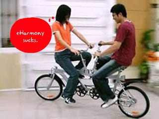 Illustration for article titled Face to Face Tandem Bike Makes First Dates Last Dates