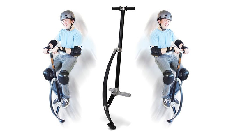 Illustration for article titled Composite Fiber Pogo Stick Inspires a Whole New Generation to Break Their Necks