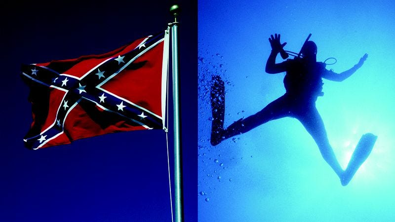 Illustration for article titled I Used To Defend The Confederate Flag But Now I Am Taking Scuba Diving Lessons