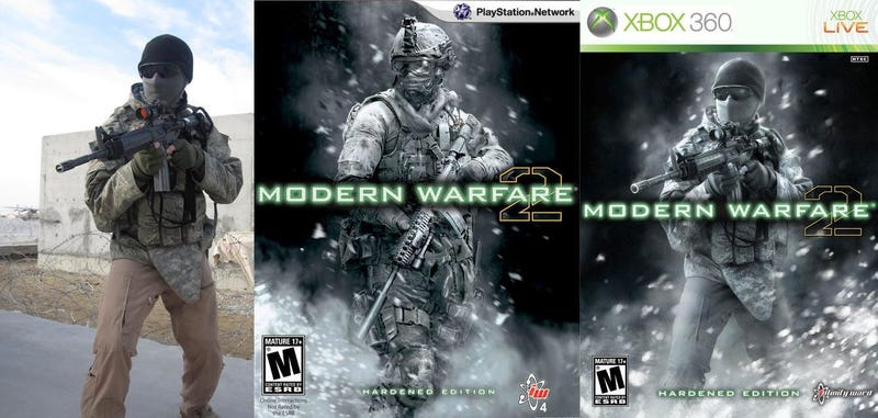Illustration for article titled Real Soldiers Recreate Modern Warfare 2 Box Art