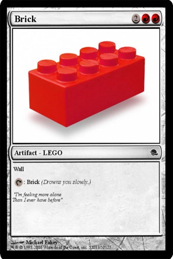 Illustration for article titled LEGO Universe Spawns Collectible Card Game