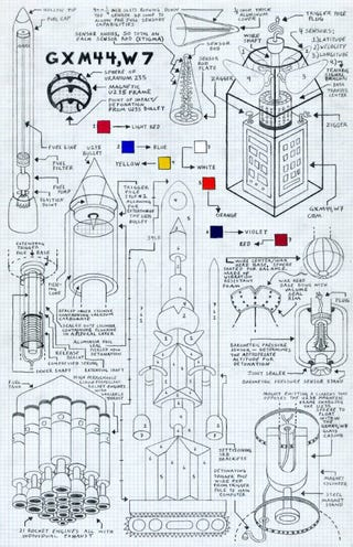 Illustration for article titled Mad scientist's schematics for imaginary weapons of mass destruction