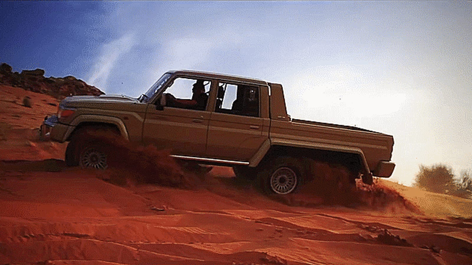 This 6x6 Toyota Land Cruiser Pickup Is An Unstoppable Dune Crusher