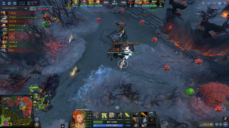dota match turns into five hour melodrama