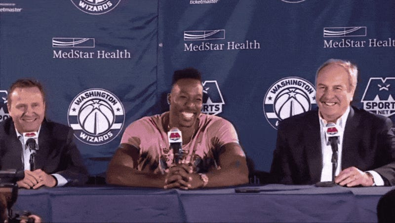32432fbf996 Dwight Howard Welcomes Himself To The Wizards With Awful Joke