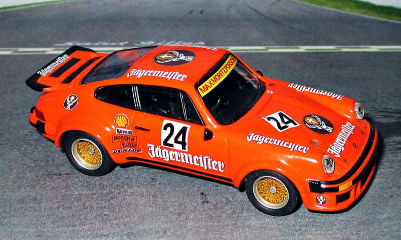 Illustration for article titled Teutonic Tuesday: Kyosho Porsche Turbo RSR Jägermeister