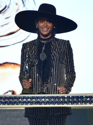 Beyoncé accepts the CDFA Fashion Icon Award onstage at the 2016 CFDA Fashion Awards on June 6, 2016, in New York City.Theo Wargo/Getty Images