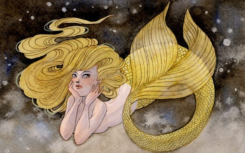Illustration for article titled Stunning Paintings Of Mermaids Inspired By Real Underwater Life (NSFW)