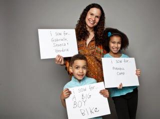 Tanya Van Court and her children, Gabrielle and HendrixCourtesy of Tanya Van Court