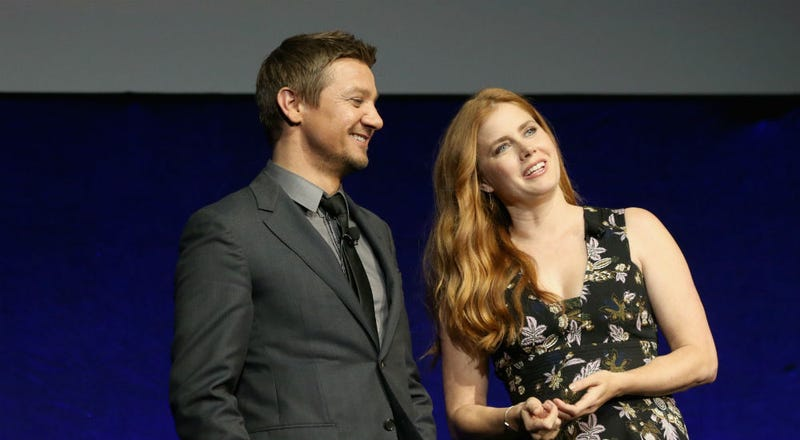 Jeremy Renner and Amy Adams present Story of Your Life at CinemaCon 2016. Image courtesy of Paramount Pictures