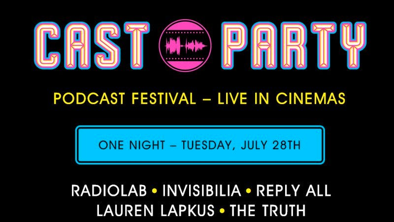 Illustration for article titled Radiolab and Invisibilia are coming to theaters for one night only