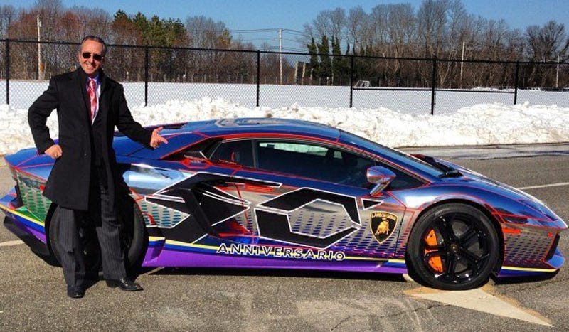Illustration for article titled Is This The World's Most Hideous Aventador?