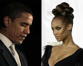 """Illustration for article titled Tyra, Obama, Obama, Tyra: We (Tried To) Live-Blog Barack's """"Tyra"""" Appearance"""