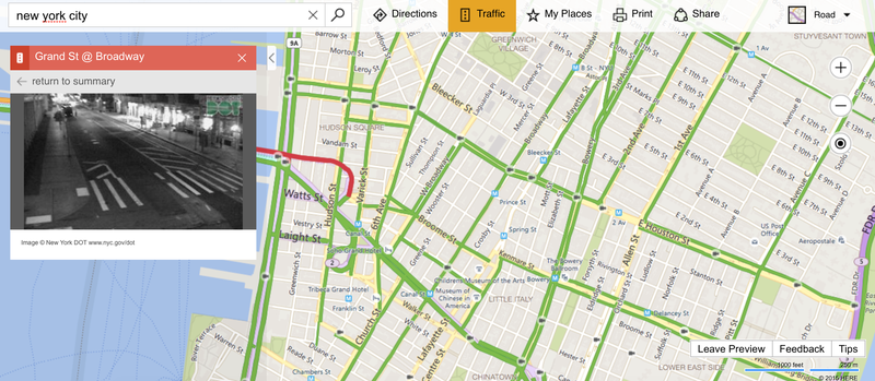 RealTime Traffic Cameras Could Make Me Actually Use Bing Maps – Map Directions Traffic