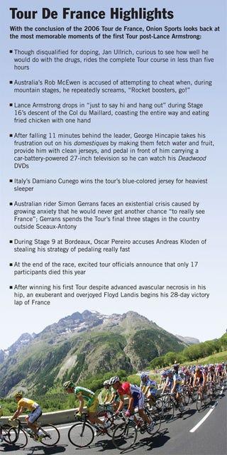 Illustration for article titled Tour De France Highlights