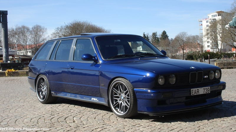 wagon wednesday homebrew bmw e30 m3 touring with e39 m5. Black Bedroom Furniture Sets. Home Design Ideas