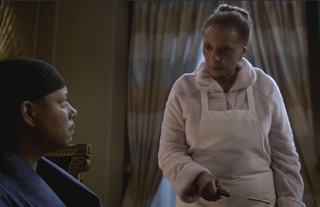 Lucious (Terrence Howard), you better eat them cakes or Mama (Leslie Uggams) might stab you.Fox screenshot