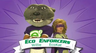 Illustration for article titled Kansas State's EcoKat Mascot Will Reduce Energy Usage And Humiliate The School