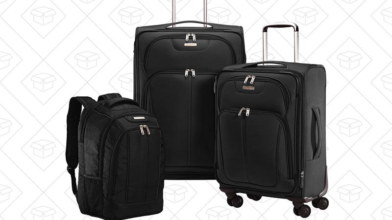 Samsonite Versa-Lite 360 3 Piece Nested Set, $100. Also available in red.