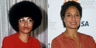 Angela Davis (Getty Images); Shola Lynch (Jemal Countess/Getty Images)