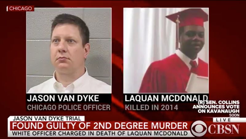 Illustration for article titled Cop Who Shot Black Teen 16 Times Found Guilty of Second Degree Murder