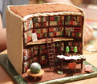 Illustration for article titled With This Library Cake, You Can Literally Eat Yourself Some Knowledge