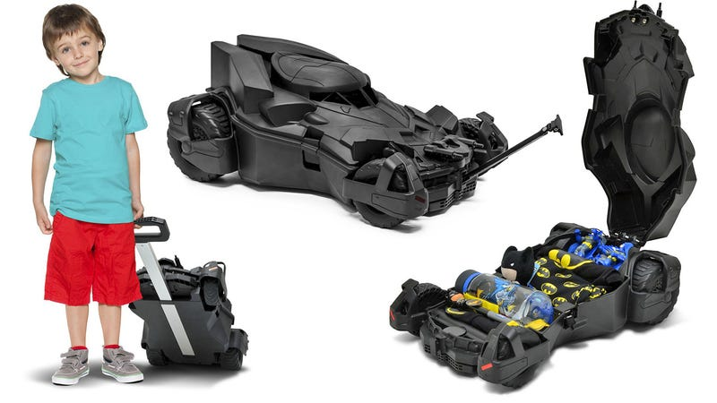 Making This Batmobile Suitcase Only Sized For Kids Was a Big Mistake