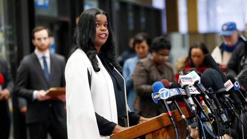 Cook County State's attorney Kim Foxx speaks with reporters and details the charges against R. Kelly's first court appearance on February 23, 2019 in Chicago, Illinois.