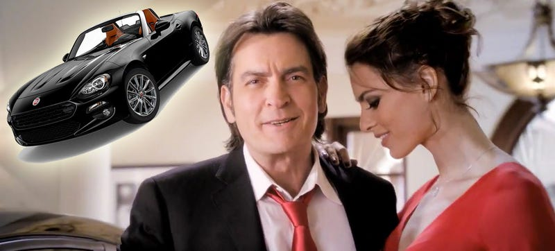 Illustration for article titled What Happened To Fiat's New Charlie Sheen Commercial?
