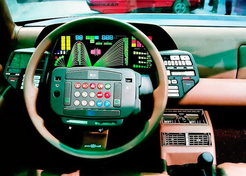 Illustration for article titled A collection of digital dashboards from the 80s.