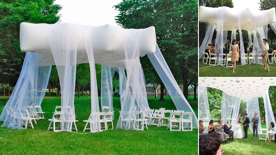 & Would You Trust a Helium-Filled Floating Venue On Your Wedding Day?