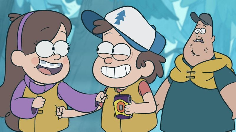 """Illustration for article titled Gravity Falls: """"Tourist Trapped""""/""""The Legend Of The Gobblewonker"""""""