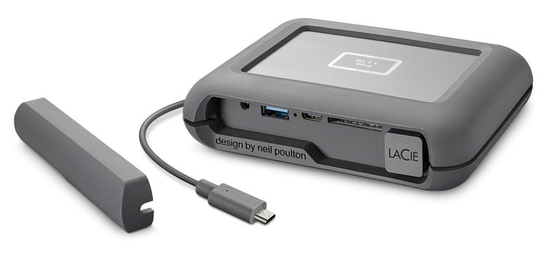 Illustration for article titled LaCie's New Rugged Drive Can Backup All Your Footage On Location Without a Computer