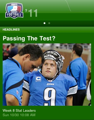 Illustration for article titled Tim Tebow's Next Miracle? Giving Matthew Stafford A Neck