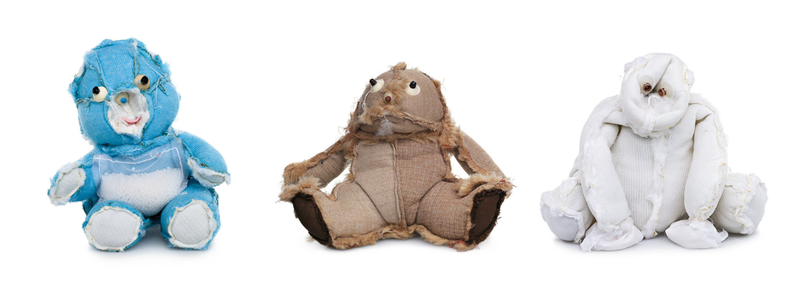Illustration for article titled Teddy bears turned inside-out are the stuff of nightmares